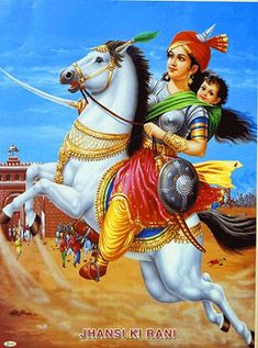 Lakshmibai - The Rani of Jhansi Lakshmibai - The Rani of Jhansi<br> Lakshmibai - The Rani of Jhansi - People Posters (Reprint on Paper - Unframed) Indian Flag, Indian Army, Freedom Fighters Of India, Best Baby Carrier, History Of India, Indian Art Paintings, Real Hero, Hindu Art, Great Women