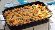 מאפה פסטה עם גבינות וכרישה Pasta Pie, Macaroni And Cheese, Ethnic Recipes, Food, Mac And Cheese, Essen, Meals, Yemek, Eten