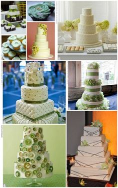 green and white cake ideas