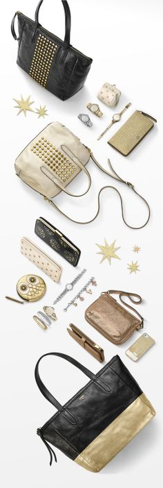 #Fossil Glam Rocks: Dazzling and delightful, our metallic must-haves stand out with extra sparkle and shine.