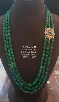Omprakash Jewellers are one of the best jewelry shops in Hyderabad with vast variety of traditional, bridal & modern gold, diamond and Silver jewellery. Beaded Jewelry Designs, Gold Jewellery Design, Bead Jewellery, Necklace Designs, Emerald Jewelry, Gold Jewelry, Pearl Jewelry, Silver Bracelets, Wedding Jewelry