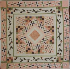 "Designed by Sisters Attic Quilting, LLC ... we have named this one ""Pink Sister""."