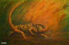 Wildlife Painting Step-by-Step Demo: Chameleon: Finishing with a Palette Knife