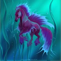 Betta Waterhorse by lynx_catgirl - Marianna Gadzhy - CGHUB Mystical Animals, Mythical Creatures Art, Mythological Creatures, Magical Creatures, Horse Drawings, Animal Drawings, Fantasy Beasts, Mermaids And Mermen, Horse Art
