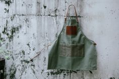 Florist apron A102/ Quench the gloom/handmade, Unisex, Vegetable tanned leather, Copper rivet, workwear, florist shop, garden tools