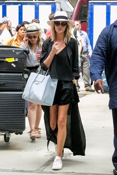 Off-Duty Model Rosie Huntington-Whiteley's Style at Haute Couture Fashion Week Turns Heads