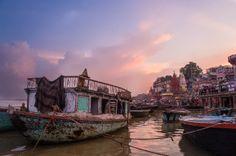 Sunrise on the Ganga, Varanasi, India #india #travel #Kamalan #culture #photo #Varanasi #Ganga #Benaras #Ganges