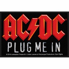 ACDC Patch Dirty Deeds Round Iron Sew On Patch Badge Official
