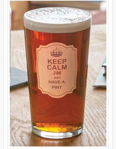 "Di's Home Decor on Twitter: ""Keep Calm Pint Glass  £16.00 #pint #pintglass #keepcalm #personalised #beeroclock #giftforhim #men #xmasgifts #beerbods #beerfriends #xmas https://t.co/O9BDmakM4W"""