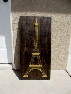 Eiffel Tower String Art by CherishbyNT on Etsy