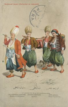 """Ottoman Turkey, Costumes, Medjmouaï Teçavir (1910s) Fruchtermann No. 110. Max Fruchtermann, 1852-1918. The most prominent early publisher of Ottoman postcards, at the age of seventeen he opened a frame-shop at Yüksekkaldirim Istanbul. It is hard to underestimate his role in the publishing scene that followed. He was one of the first """"editeurs"""" (if not the very first) to create postcards depicting the Ottoman Empire."""