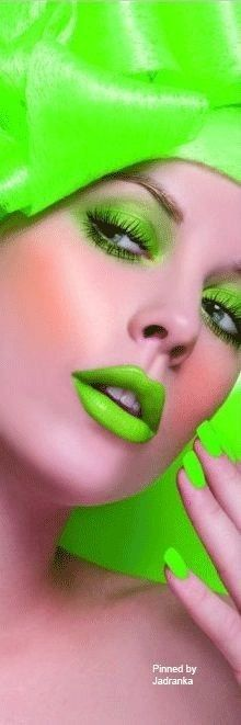 Orange And Purple, Neon Green, Green Colors, Yellow, Neon Lips, Turquoise Fashion, Neon Rainbow, Colorful Fashion, Green Fashion