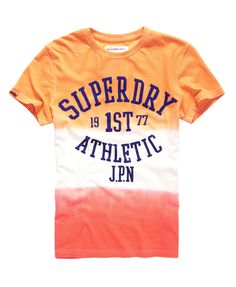 Mens - Tie Dye Luxon T-Shirt in Dip Dye Yellow/orange | Superdry