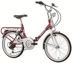 Velo Pliant Firenze Old Style en Acier de 20 Pouces Shimano 6 V Rouge Blanc