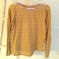 Anthropologie shirt Beautiful and comfy long sleeve. Worn less than 3 X Anthropologie Tops Tees - Long Sleeve