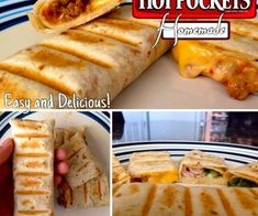 How To Make Hot Pockets (Homemade) - these would be handy to have in the freezer.