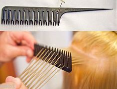 The Perfect Weaver Foiling Hair Comb, Highlighting in the time, USA madeA creative, time-saving comb essential for doing a foil highlight! This is the comb you have been looking for!You can now do a foil highlight in less time by using The Perfect Foil Highlights, Blonde Highlights, Barber Supplies, Hair Color Techniques, Pinterest Hair, Cool Hair Color, Hair Tools, Hair Hacks, New Hair