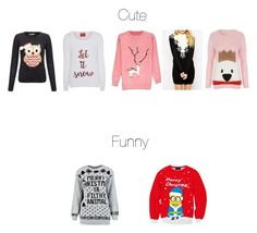 """Funny and cute Christmas sweaters 🙂"" by darkhorse21 ❤ liked on Polyvore featuring Lipsy and George"