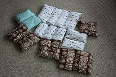 """Rice bags"" or ""corn bags"", for heating pads. These are easy and wonderful gifts, or comforts for your own family! I warm my bed up with a corn bag. =) It's a life-saver! =)"