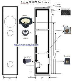 Loudspeaker design, Fostex FE167E Floorstander Speaker