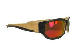 Gafas de madera Bamboo Sport #Soniapew 100% ecológicas, hechas a mano, en madera de ·#bambú. Lentes polarizadas-espejadas Red Mirrow Resistente al agua, hipoalergénicas, ligeras, varilla flex, montura graduable. Personalizables en la varilla con un mensaje exclusivo del cliente