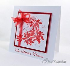 Quick and Simple Watercolor Poinsettia by kittie747 - Cards and Paper Crafts at Splitcoaststampers