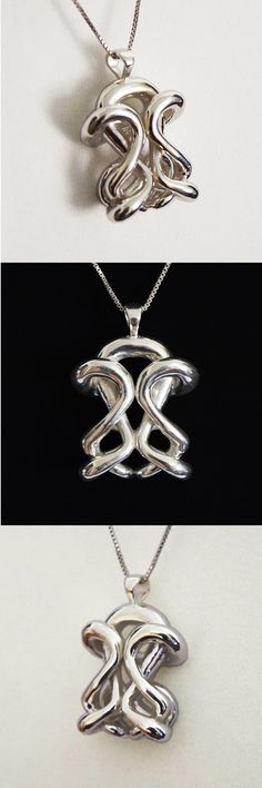 Infinity pendant necklace in silver. Stunning!