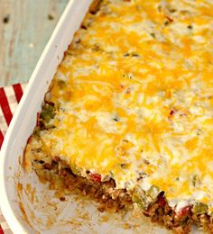 Busy Day John Wayne Casserole - A ground beef casserole recipe for those days when you're feeling lazy. It's hearty enough to feed the whole family .. and not to mention delicious!