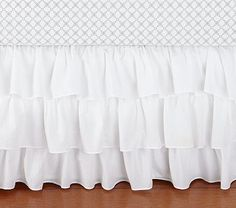 Ruffle Crib Skirt @Miranda Adarme do you know of anyone that would be able to make something like this?
