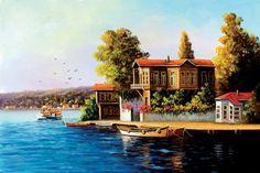 Manzaralı yağlı boya tablolar