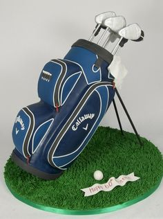 @Kathleen DeCosmo ♡❤ #Cake ❥ A Golf bag #Cake via @Cake Central - This would be awesome for Chuck's cake..