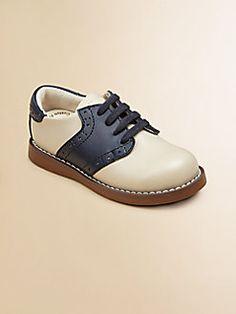 Footmates - Infant's, Toddler's & Boy's Leather Oxford Saddle Shoes
