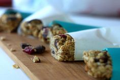 Nibbles by Nic | Chocolate Cherry Chunk Granola Squares - Get ready to fall in LOVE with these wholesome, low-sugar, flour-free treats!!!!!! #granola#chocolate#kids