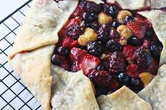 Very Berry Honey Galette with Lavender Whipped Cream