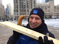 ICYMI - Mike Bettes used a frozen banana to drive a nail into this board in temperatures below 0° for most of Thursday morning (January 8th) due to the latest arctic blast impacting the eastern 2/3 of the U.S.! (Photo credit - Trish Ragsdale).