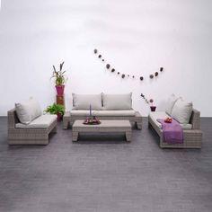 Garden Impressions Acapulco Loungegruppe mit Kissen im Farbton light grey
