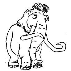 Manny The Mammoth Coloring Pictures Humanoid Sketch Art