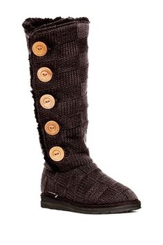 Malena Crochet Button-Up Boot