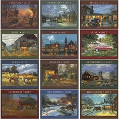 Illustrations by Dave Barnhouse, the most critically acclaimed American artist since Terry Redlin. To know more please visit: http://www.laudercompany.com/illustrated/barnhouse-country-memories-16-month-wall-calendar--1117?cPath=62& #promotionalcalendar #beauty #American