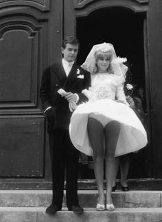 Catherine Deneuve, el día de su boda. Fuente Cinemania (Facebook)