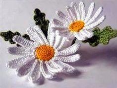 Hoy aprenderás a tejer margaritas en crochet, mas fácil de lo que parece. Quedan preciosas para muchísimas utilidades.