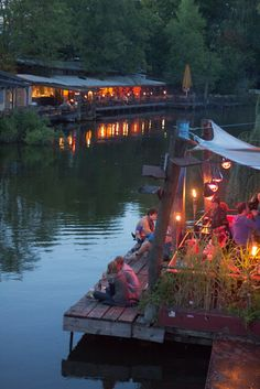 Cafe on the Spree. Berlin, Germany