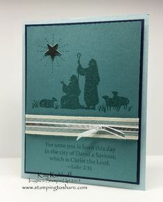 Every Blessing Religious Christmas Card with How To Video, Kay Kalthoff, Stampin' Up!, #stampingtoshare