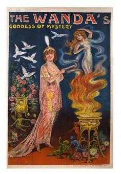 The Wanda's. Goddess of Mystery. Paris. 1912