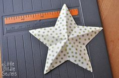 diy 3d paper star - this is for christmas but could easily be changed up for a birthday party.