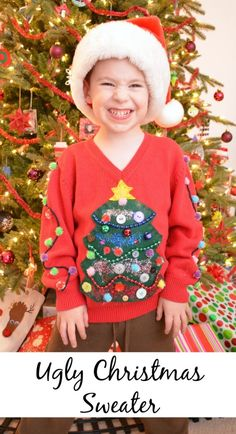 Need an ugly Christmas sweater for your upcoming holiday party? Choose from these amazing DIY ugly Christmas sweater ideas that are so easy to craft, using hot glue, crocheting skills, and more. Making Ugly Christmas Sweaters, Homemade Ugly Christmas Sweater, Tacky Christmas Sweater, Christmas Diy, Xmas Sweaters, Christmas Games, Christmas Morning, Family Christmas, Funny Christmas
