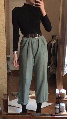 Retro Outfits, Cute Casual Outfits, Fall Outfits, Vintage Outfits, Look Fashion, Korean Fashion, Fashion Outfits, Mode Ootd, Vetement Fashion