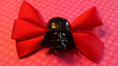 DARTH VADER Hair Bow, Hair Accessory, Star Wars, Comics, Sith Cheerleader, Dark Side