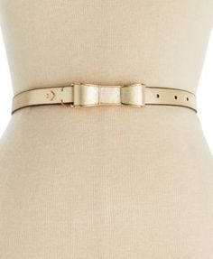 kate spade new york Saffiano Bow Belt