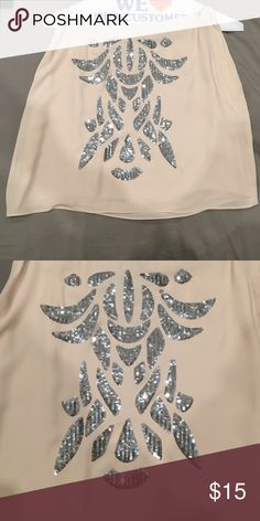 Cream and silver sequined detailed mini skirt Sequined detailed skirt, also selling matching top! Looks perfect together H&M Skirts Mini